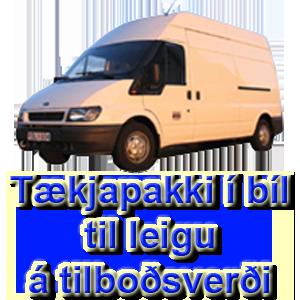 Tækjapakki í bíl til leigu á hagstæðu verði